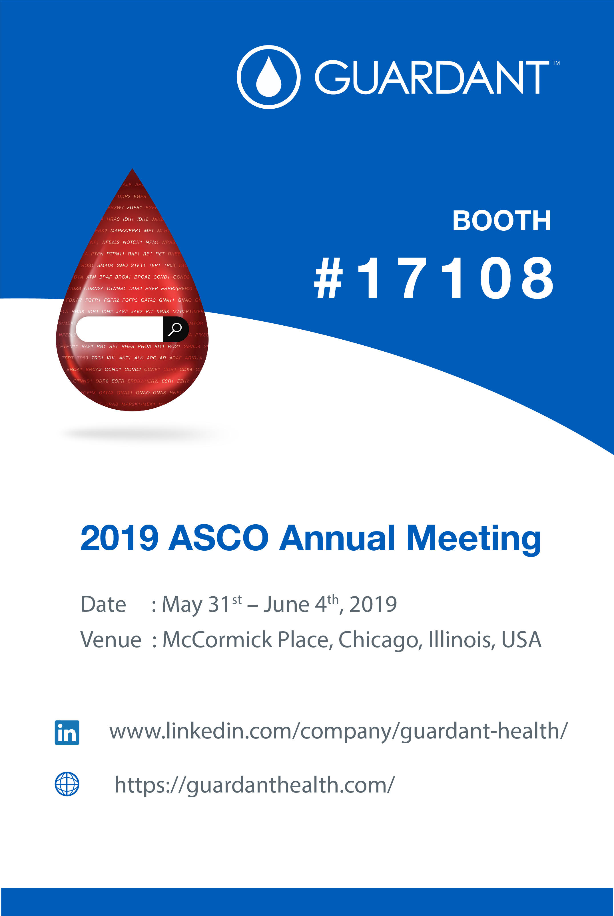 Guardant Health would be in #asco2019