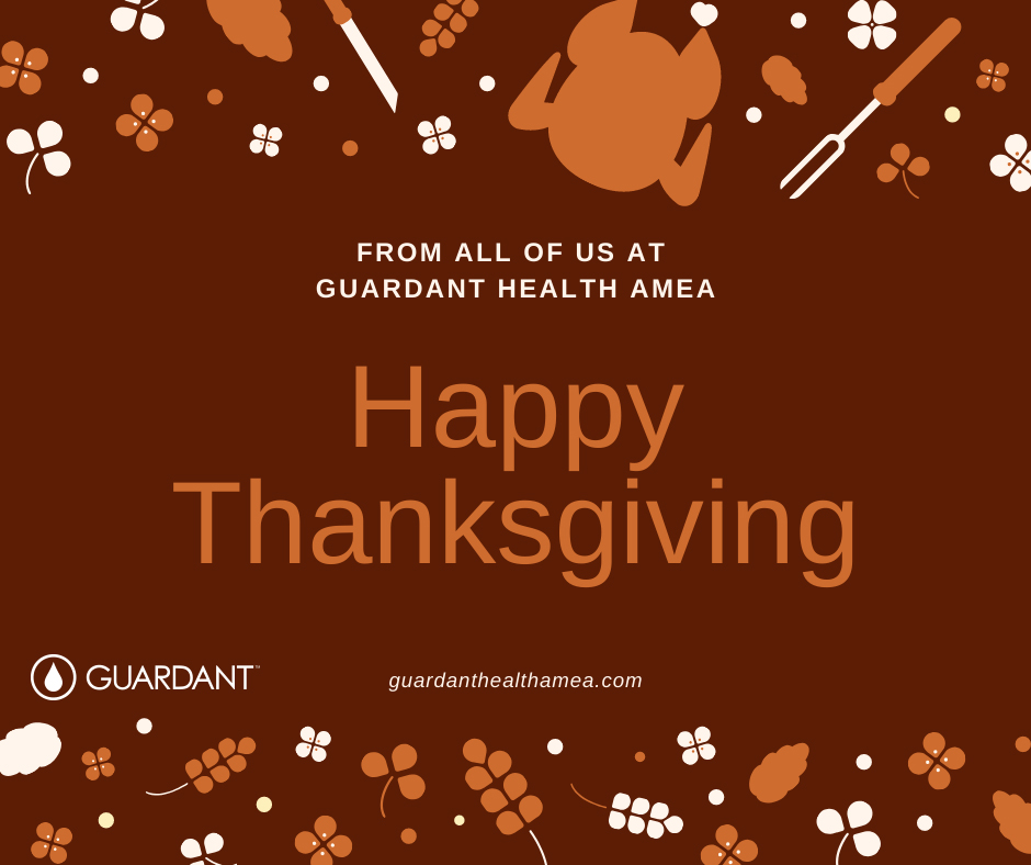 Happy holidays from all of us at guardanthealthamea.com