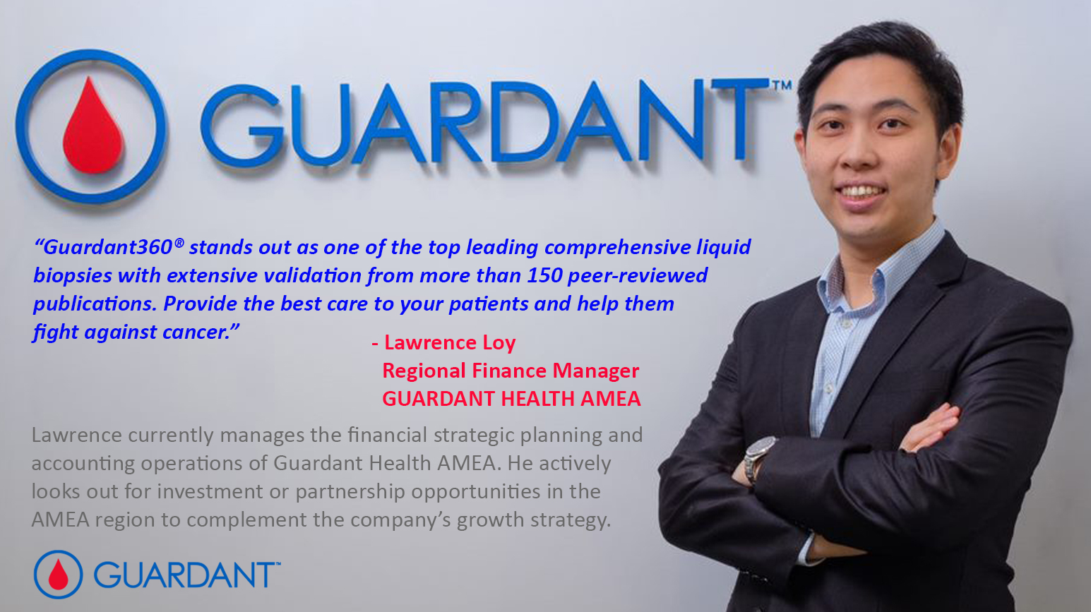 Are you ready to make a difference in the lives of cancer patients in Asia, Middle East and Africa? Join our team at guardanthealthamea.com.
