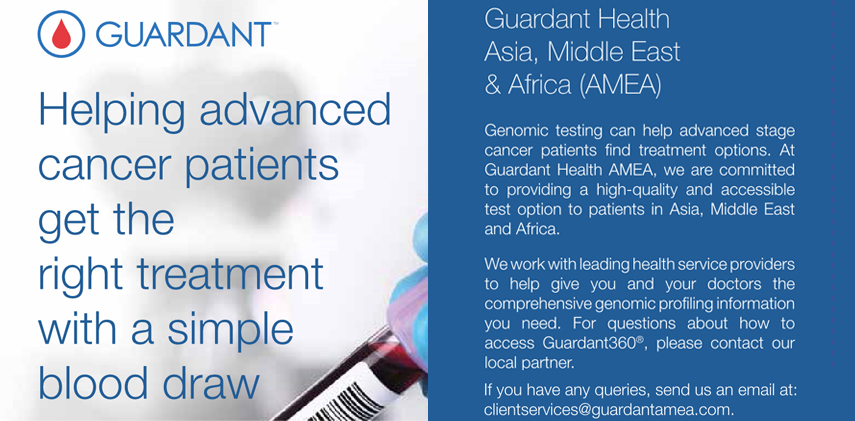 Order the Guardant360® test online today for your advanced stage cancer patient in Asia, Middle East and Africa.
