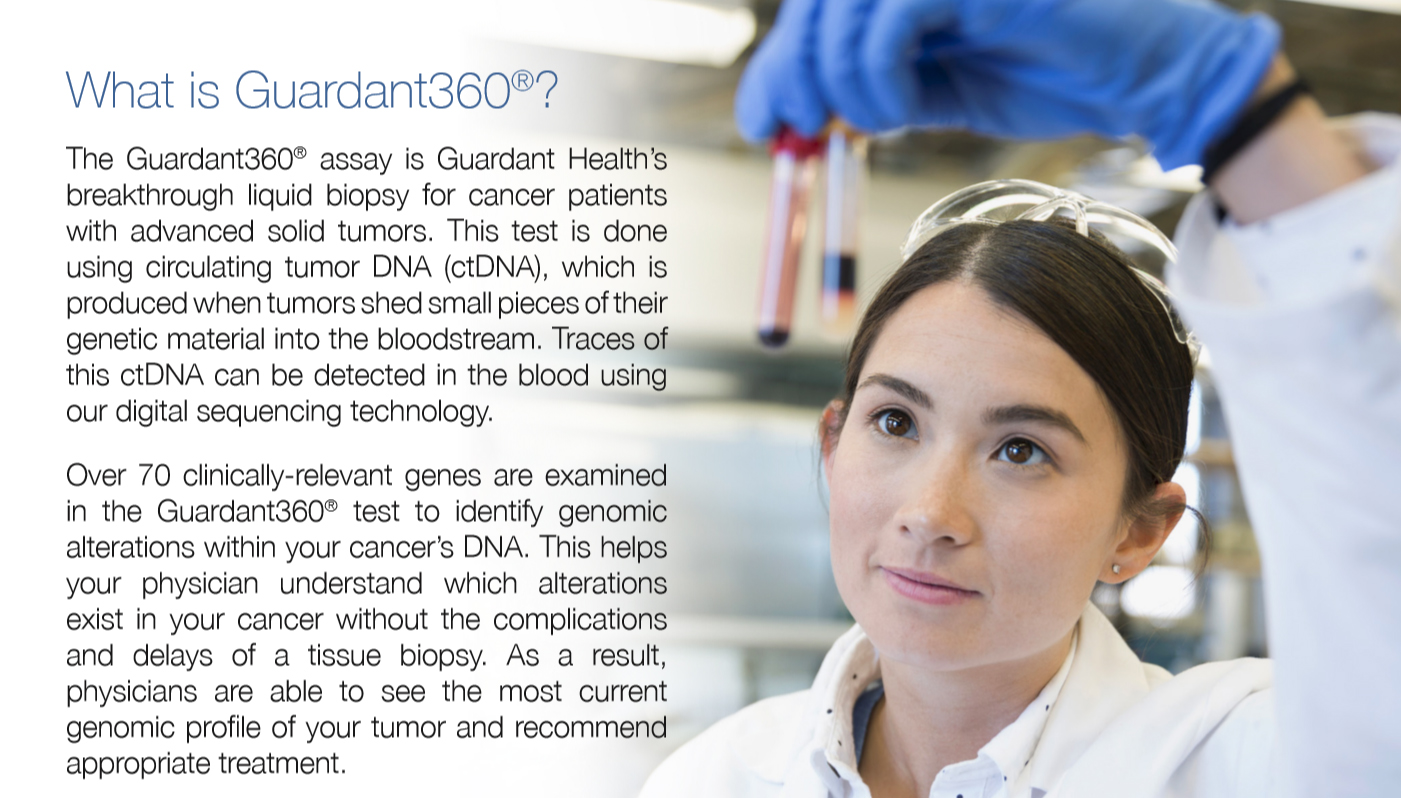 Order the Guardant360® test online today for your advanced stage cancer patient.