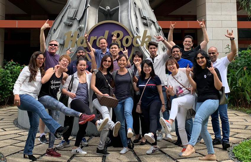Team-building our way into 2020 at Resorts World Sentosa in Singapore.