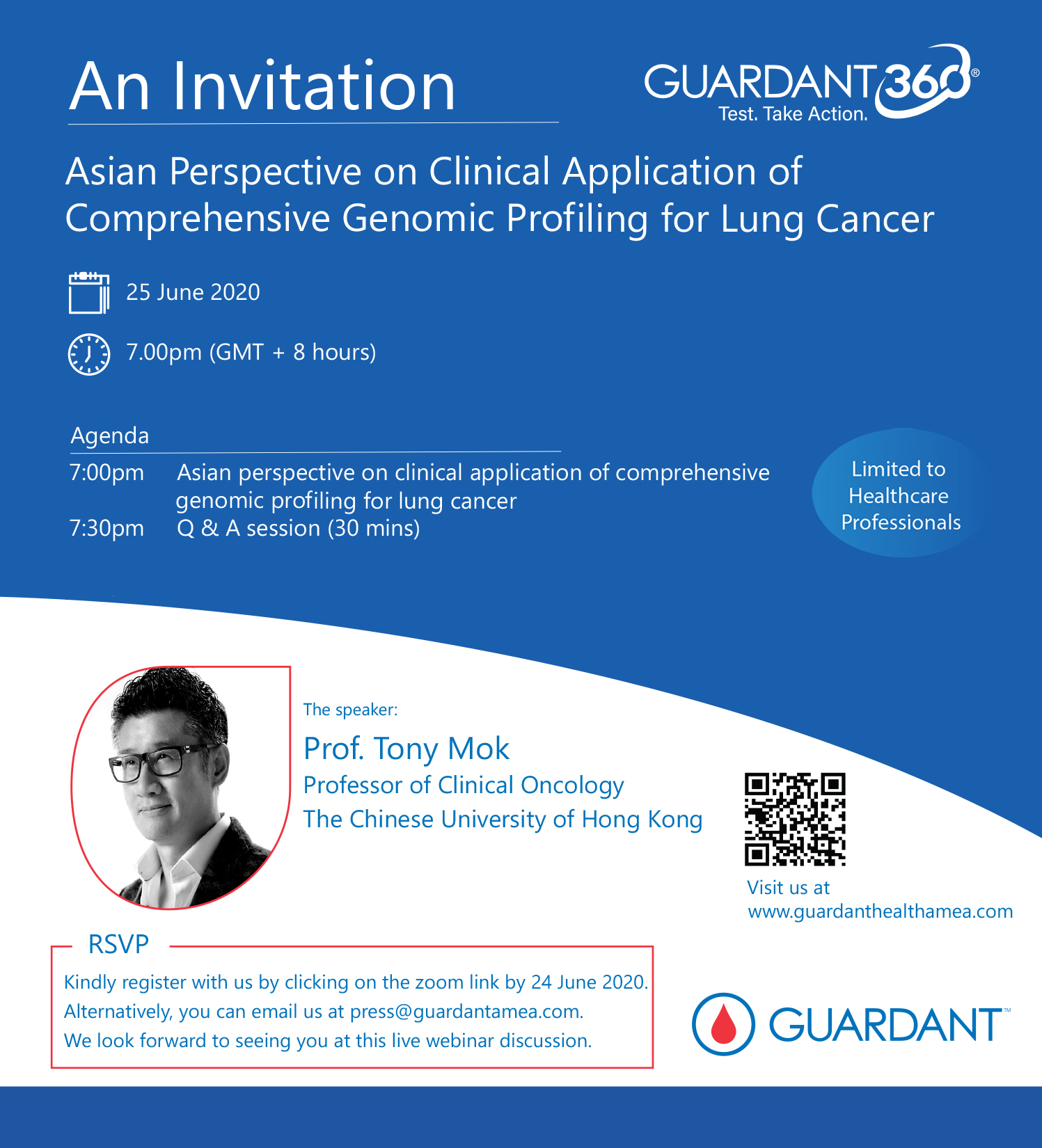 Join us on 25 June for a webinar discussion on the Asian Perspective on Clinical Application of Comprehensive Genomic Profiling for Lung Cancer