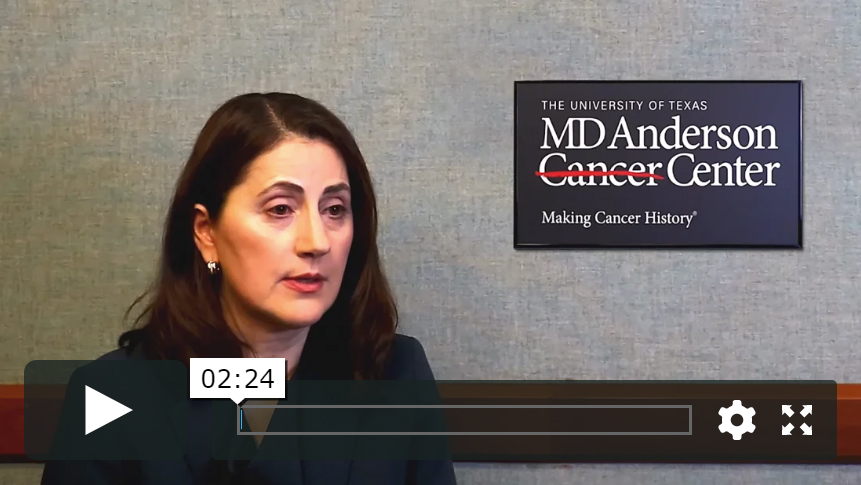 Dr. Vassiliki Papadimitrakopoulou on results from the NILE study, for patients with newly diagnosed advanced stage non-squamous NSCLC:
