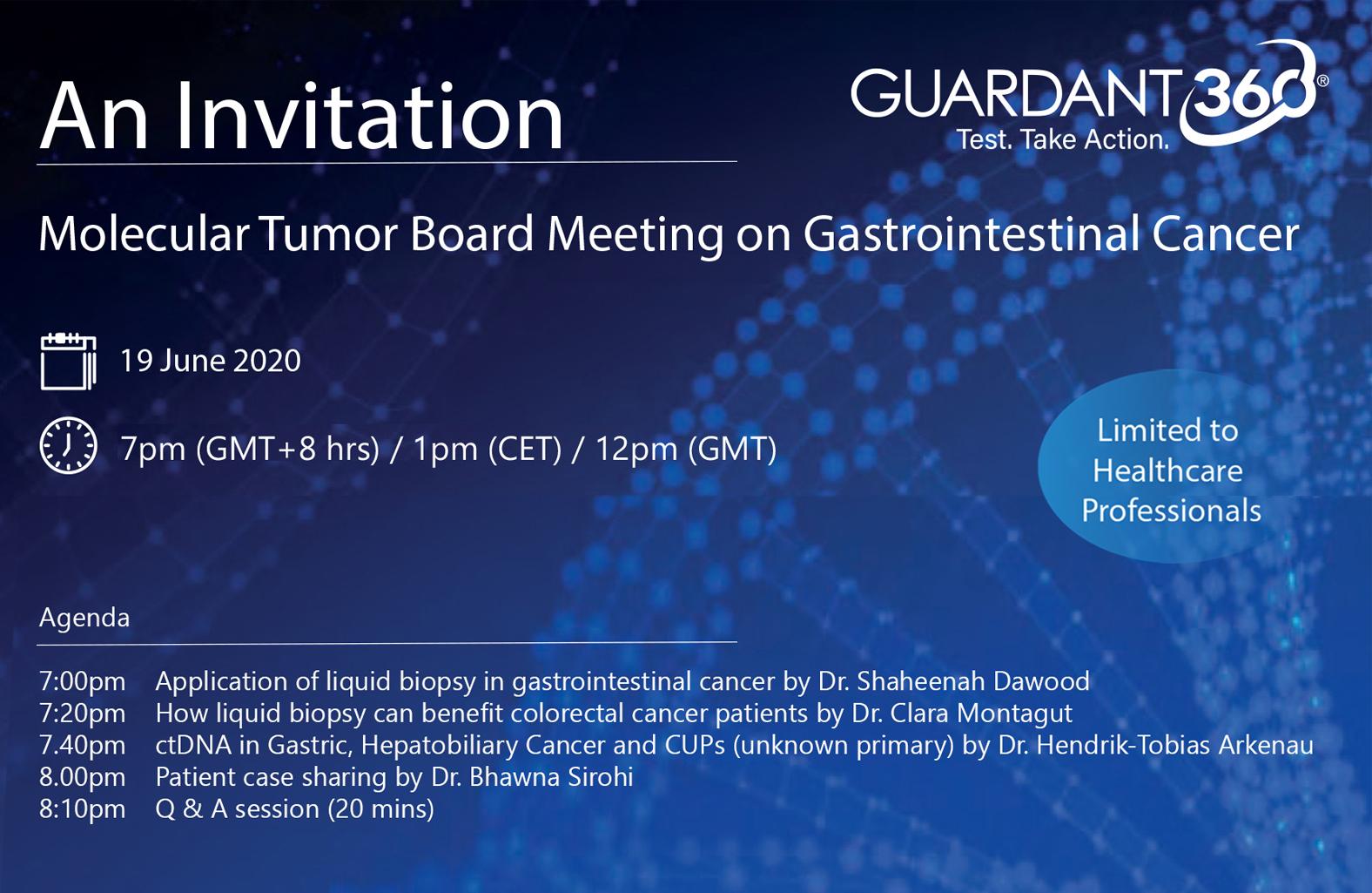 Molecular Tumor Board Webinar on Gastrointestinal Cancer