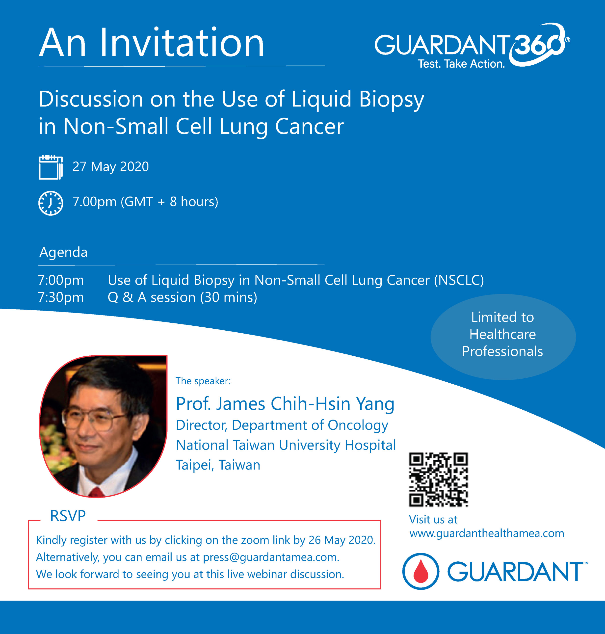 Inviting all medical oncologists! Join us for a Webinar Discussion on the Use of Liquid Biopsy in Non-Small Cell Lung Cancer