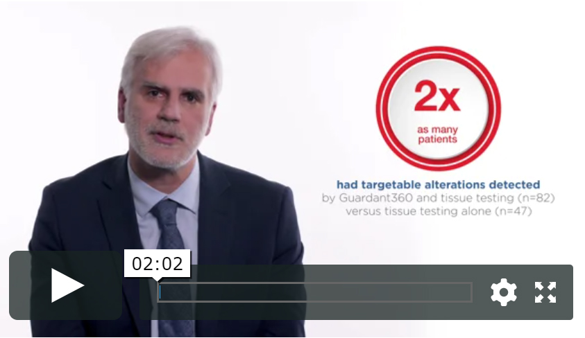 I believe in many settings, liquid biopsy Guardant360-based test results are more reliable than tissue-based testing