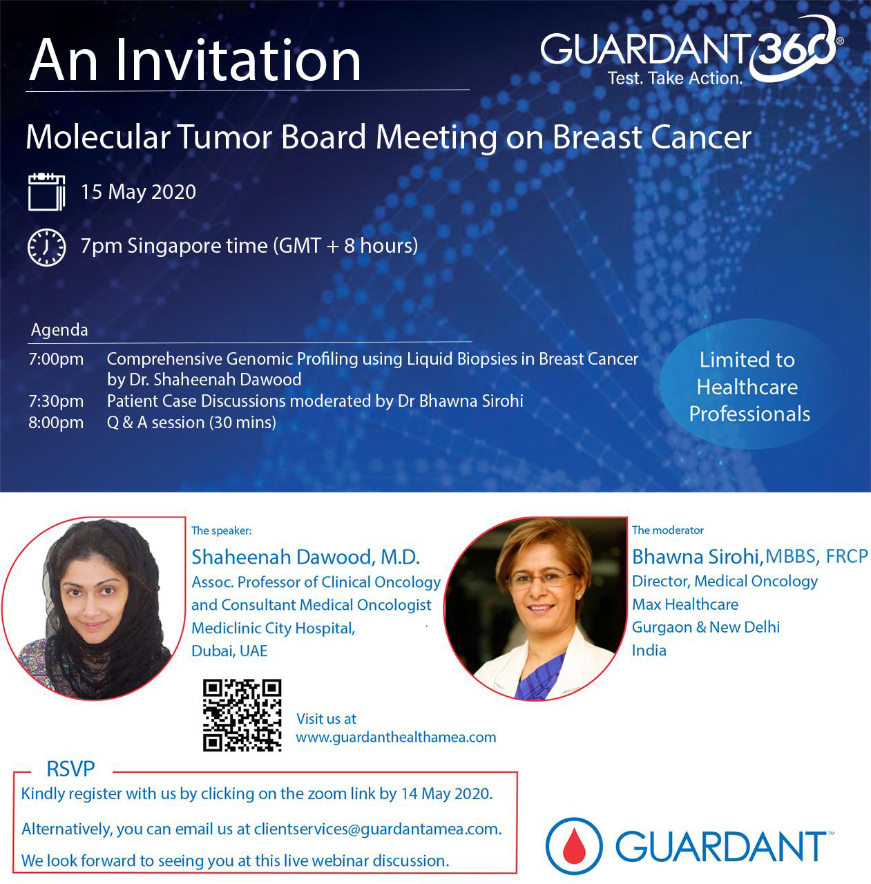 Calling all medical oncologists! Join us tomorrow for a Molecular Tumor Board Webinar on Breast Cancer