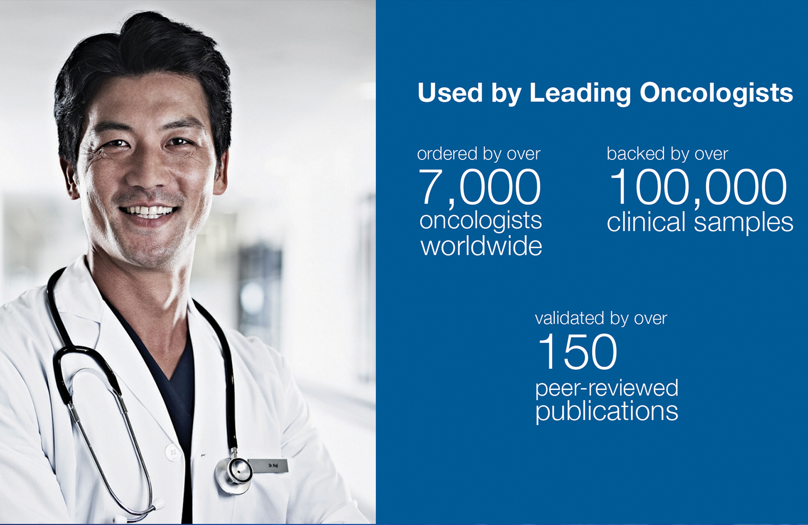 The Guardant360® test has been ordered over 100,000 times by more than 7,000 oncologists worldwide and has been validated in over 150 peer-reviewed publications
