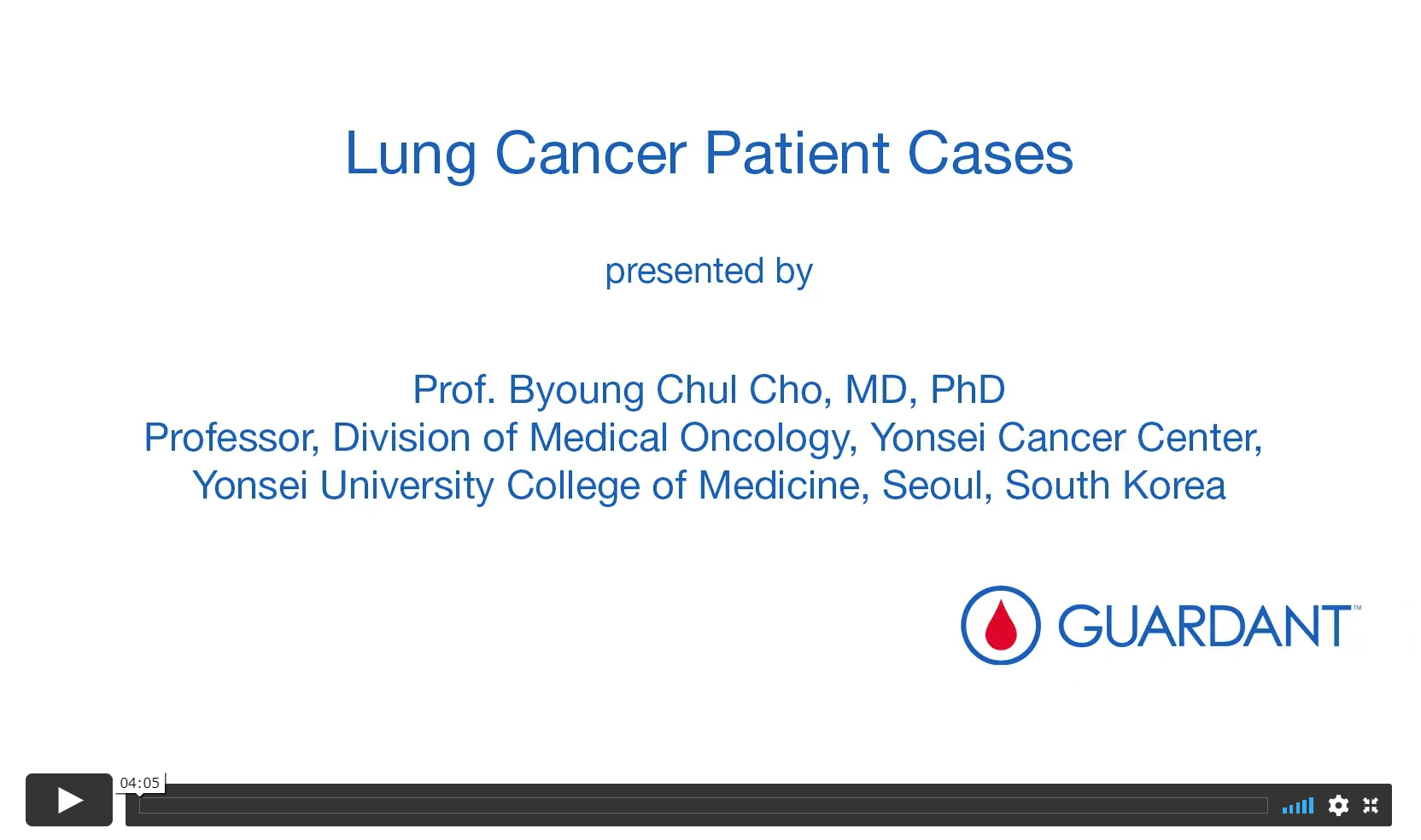 Lung Cancer Patient Cases (Video)