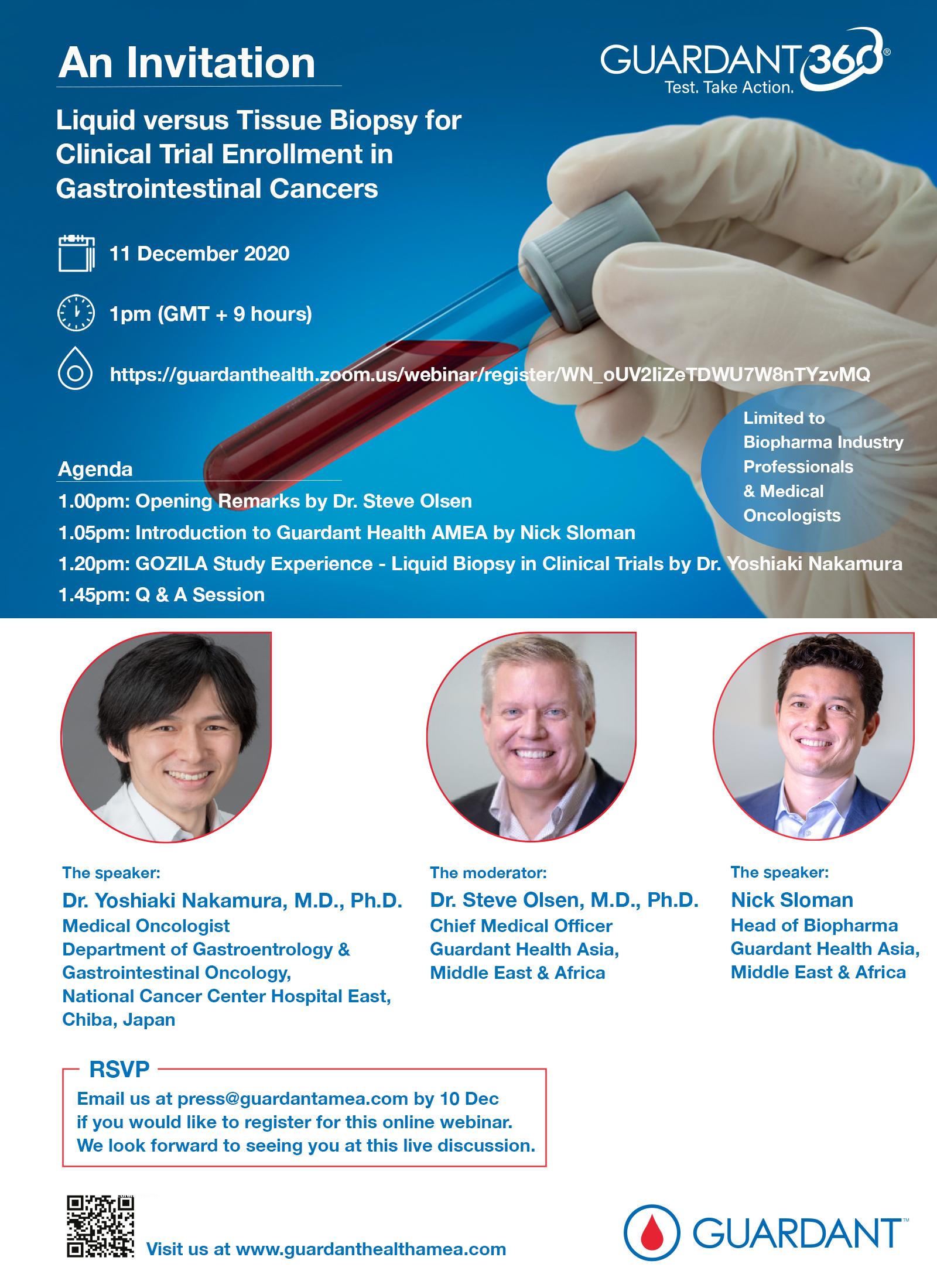 Liquid versus Tissue Biopsy for Clinical Trial Enrollment in Gastrointestinal Cancers (Webinar)