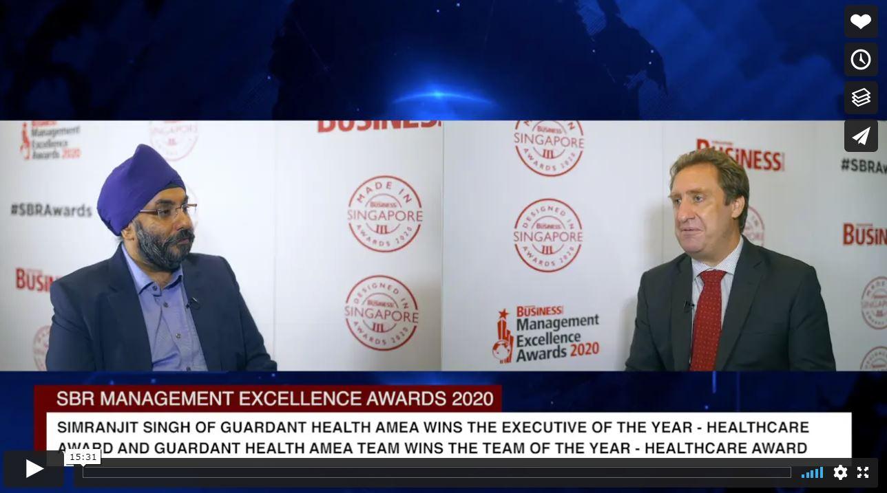 SBR Management Excellence Awards 2020 Winner: Guardant Health AMEA