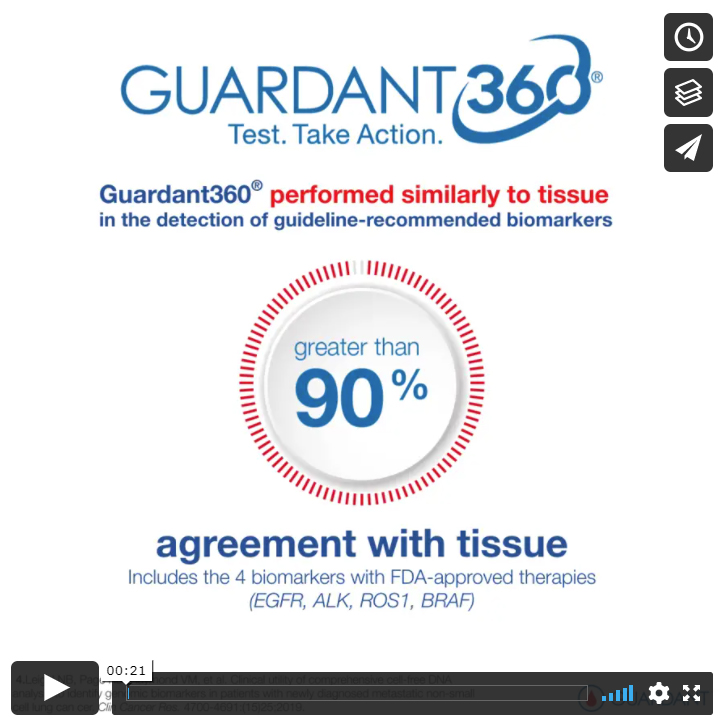 Guardant360® test results show more than 90% agreement with tissue