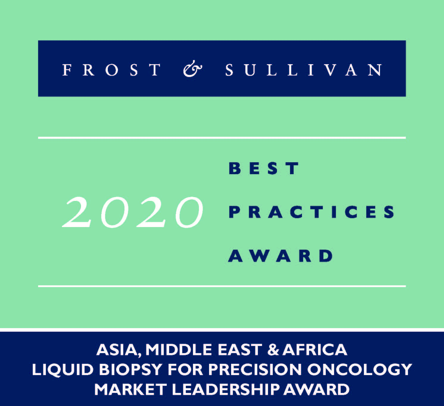 Guardant Health AMEA WinsFrost & Sullivan's Market Leadership Award for Liquid Biopsy in Precision Oncology in Asia, Middle East and Africa