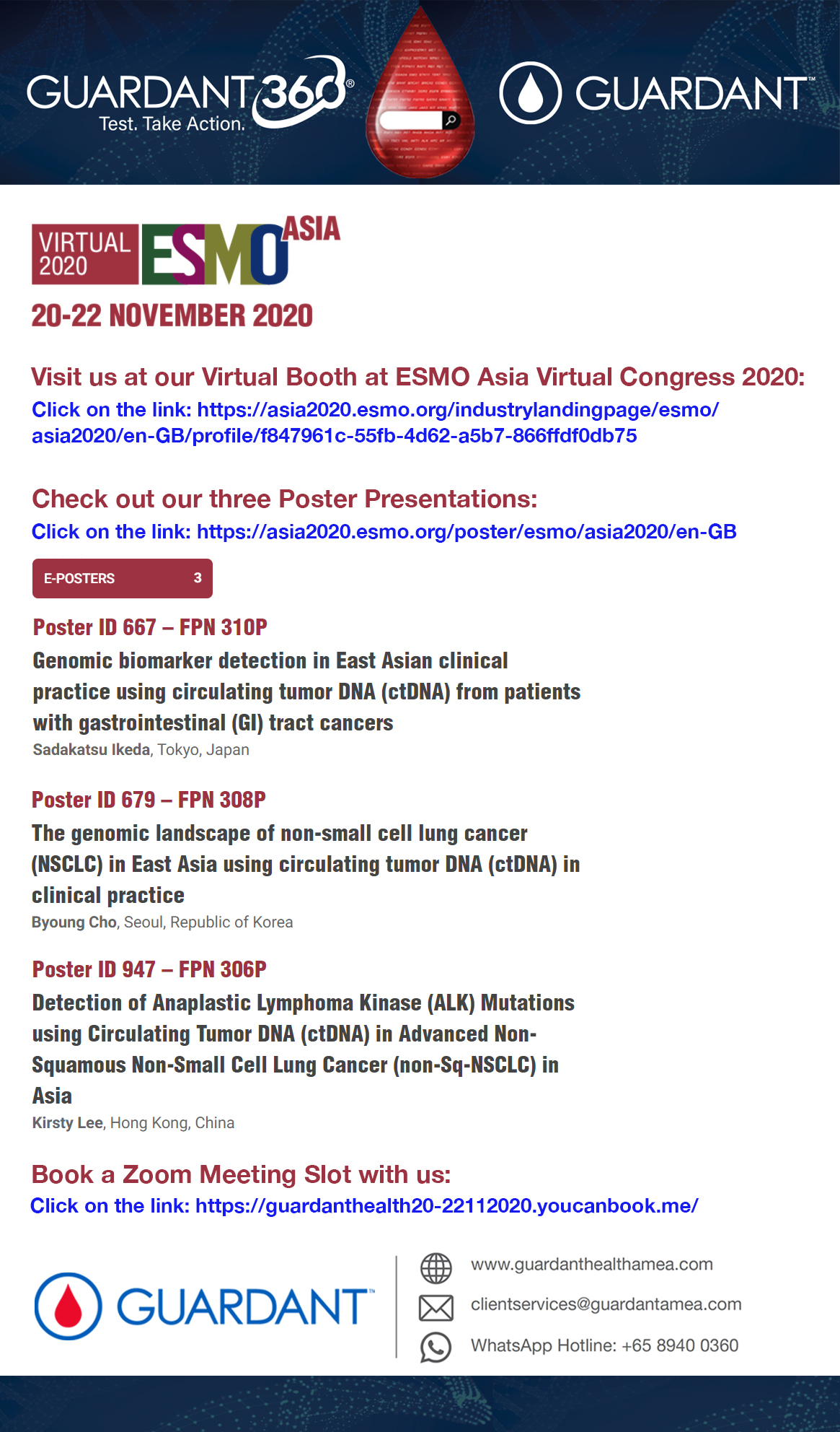 Visit us today at our virtual booth at ESMO Asia Virtual Congress 2020