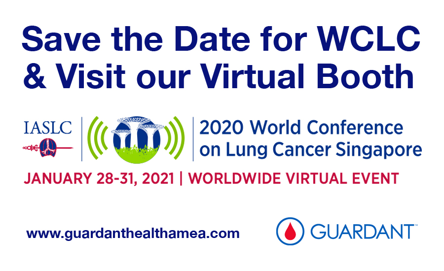 Save the date and visit our virtual booth at the 2020 IASLC World Conference on Lung Cancer from January 28-31, 2021