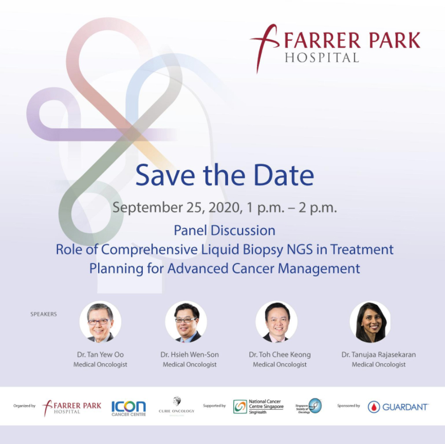 Join us on 25 Sep at 1pm for a Webinar Panel Discussion on the Role of Comprehensive Liquid Biopsy NGS in Treatment Planning for Advanced Cancer Management