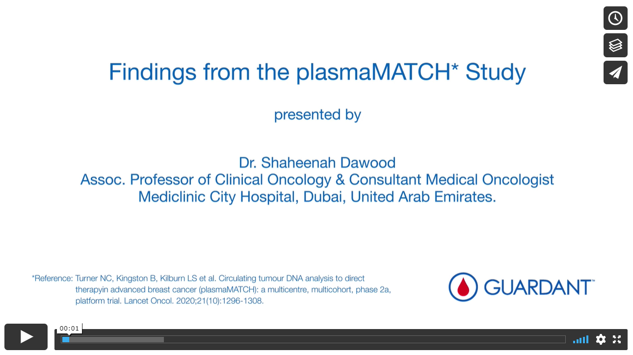 Findings from plasmaMATCH Study – using Guardant360® liquid biopsy