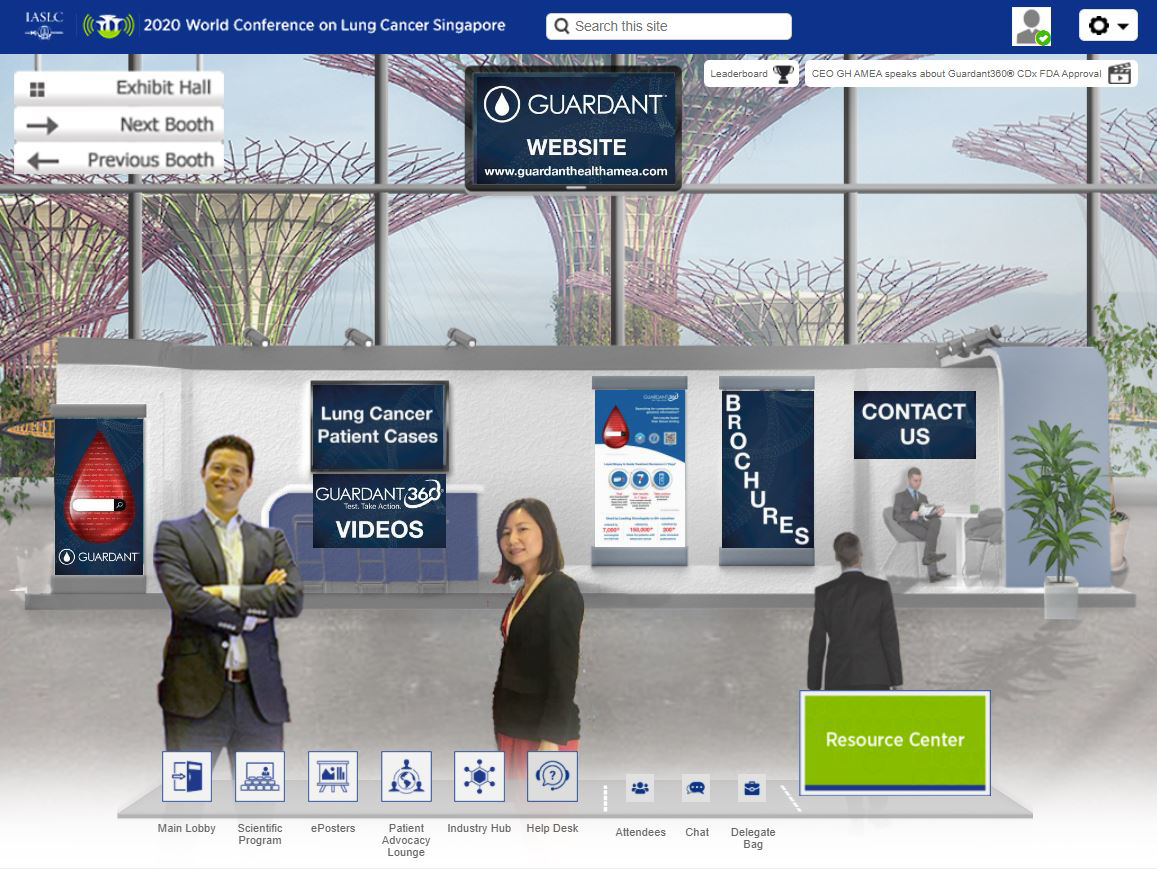 Visit our virtual booth at the 2020 IASLC World Conference on Lung Cancer from January 28-31