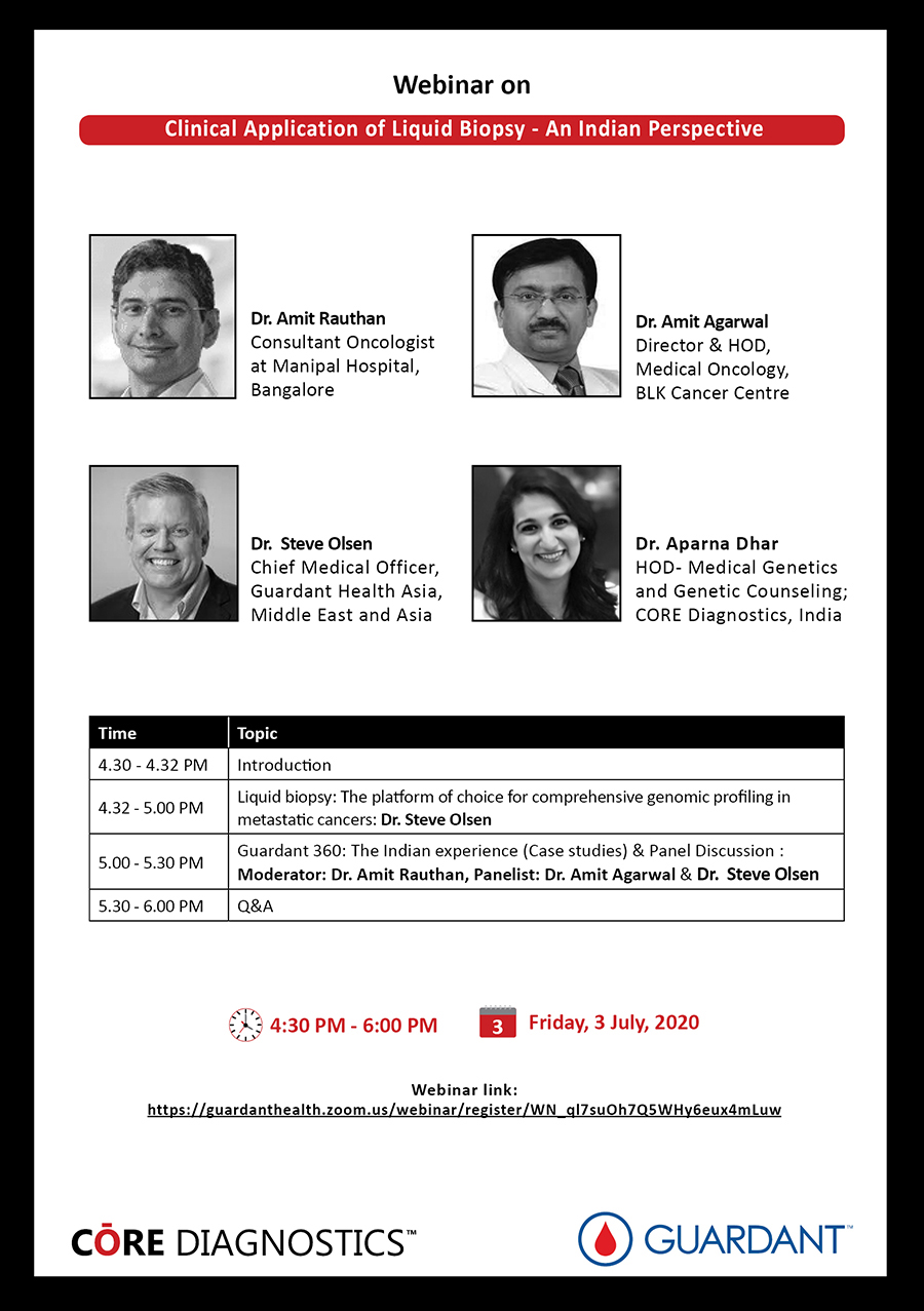 Clinical Application of Liquid Biopsy – An Indian Perspective (Webinar)
