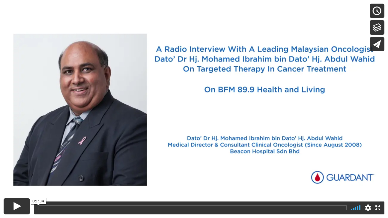 A Radio Interview with a Leading Malaysian Oncologist on Targeted Therapy in Cancer Treatment