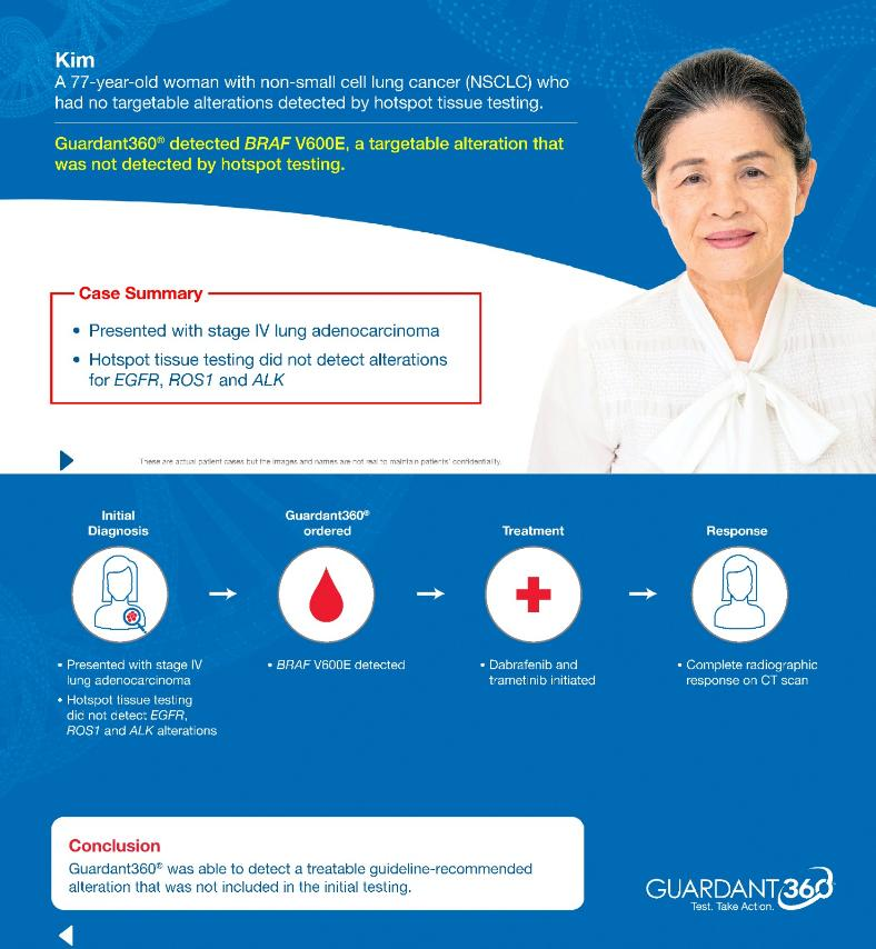 With a simple blood draw, the Guardant360 test is helping to guide treatment decisions for advanced lung cancer patients (Patient Case Study)